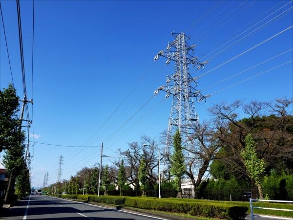 昭島線22号鉄塔ドナウの二乗