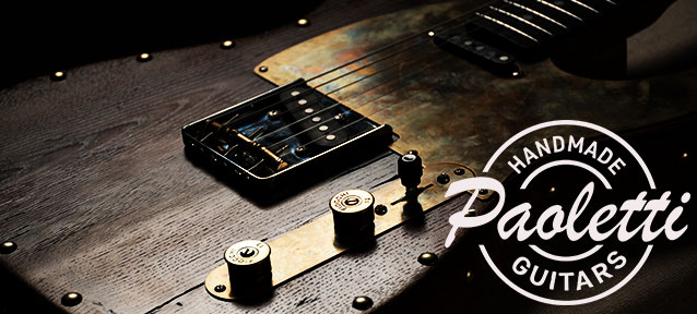 Made in Itary!! Paoletti Guitars (パオレッティー・ギターズ)取り扱い開始