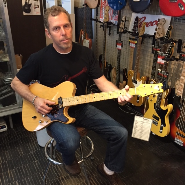"Asher Guitars ""T-Deluxe"" 入荷。ビル・アッシャーご本人が来店&デリバリー!!"