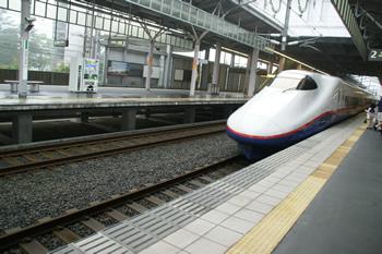 新幹線で軽井沢へ旅行