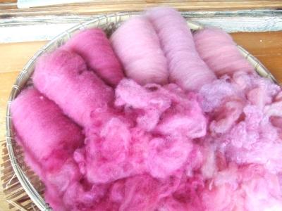 むくげ色の羊毛