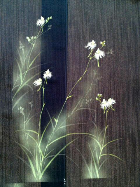 夏のきもの_鷺草