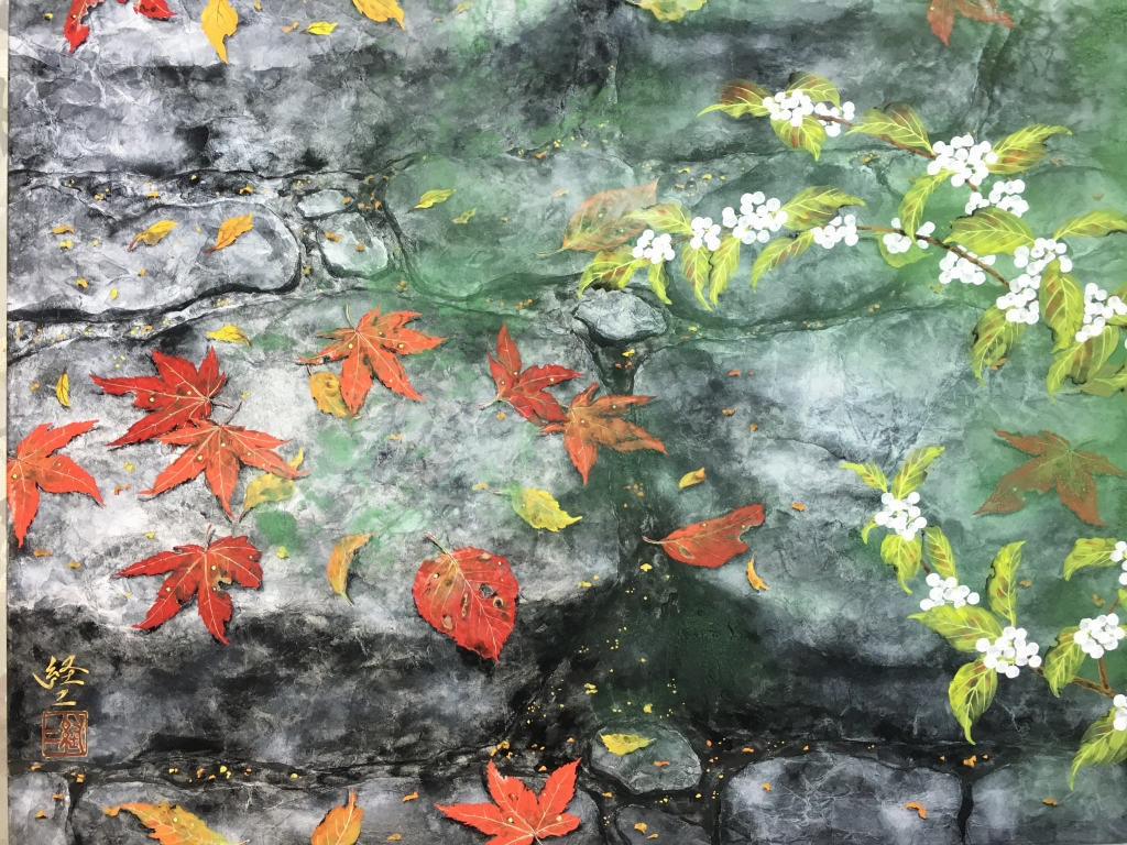 散ーF10号 上海風月画廊出品作品