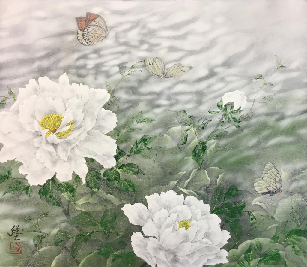 光韻ーF10号 上海風月画廊出品作品
