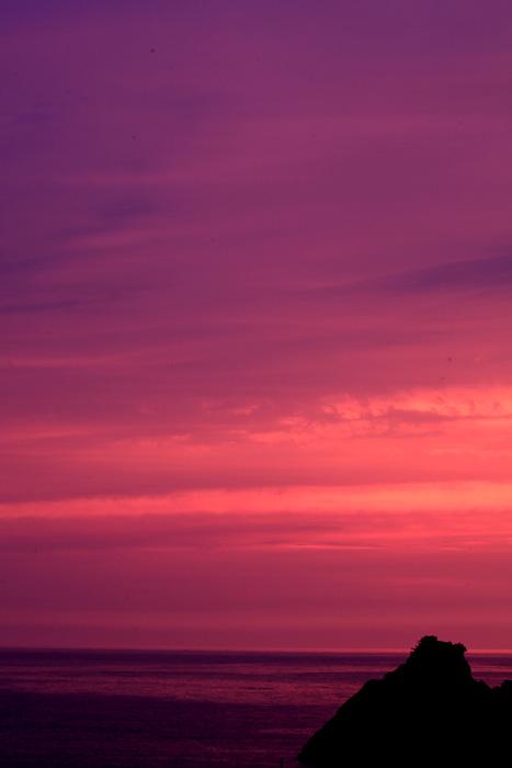 越前海岸の夕景