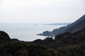 海が見える〜!