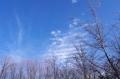 雲の形がおもしろい。