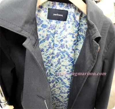 400紺裏青い花柄コート.JPG