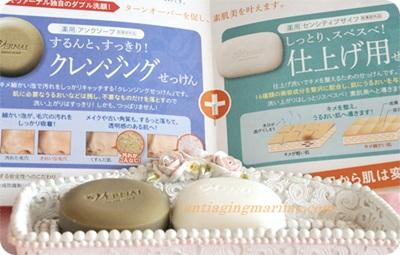 400ヴァーナルパンフと石鹸.JPG