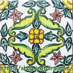 スペインタイルショップ・いろといろ工房/装飾タイル レトロ花畑シリーズ