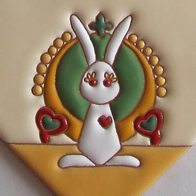 住まいのための手描き装飾タイル制作ネット販売・いろといろ工房/表札タイル・動物シリーズ・うさぎ