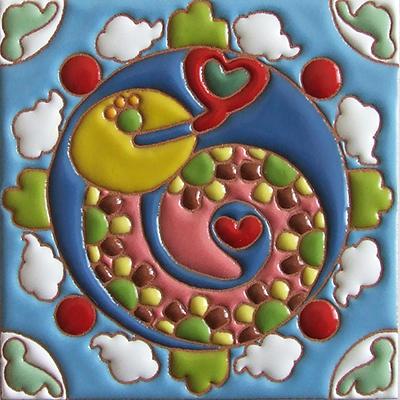 住まいのための手描き装飾タイル制作ネット販売・いろといろ工房/装飾タイル・ヘビ(蛇)