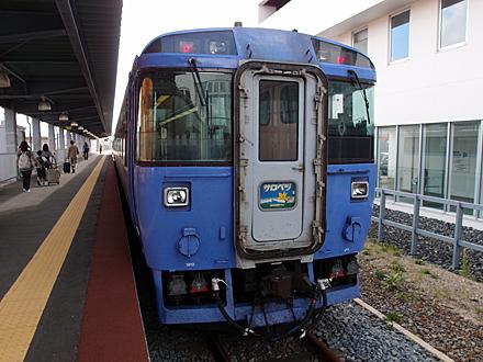 稚内駅で出発を待つ急行サロベツ