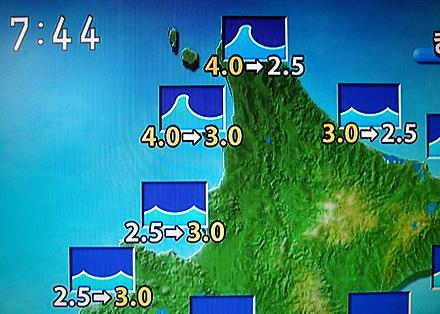 NHKの天気予報の画面