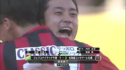 ジェフユナイテッド千葉 1-2 北海道コンサドーレ札幌