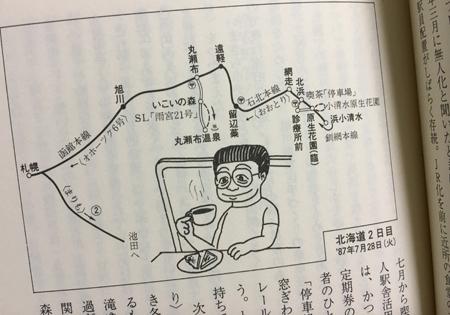 1987年7月28日の行程図