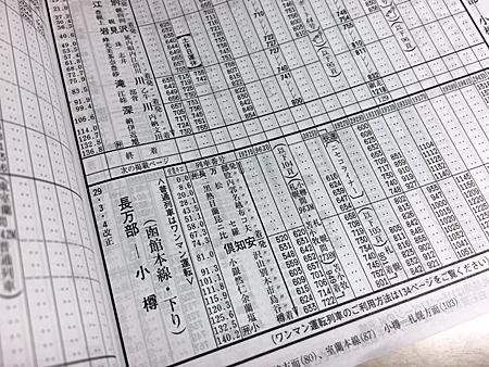 函館本線時刻表