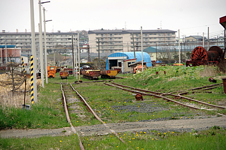 線路と貨車