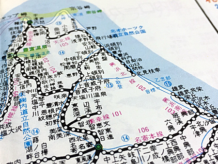 昭和57年の北海道鉄道路線図