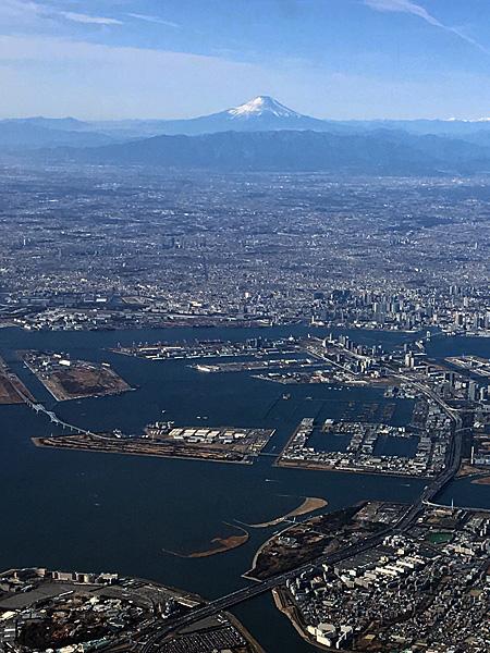富士山と東京