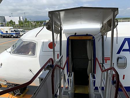 飛行機の入口