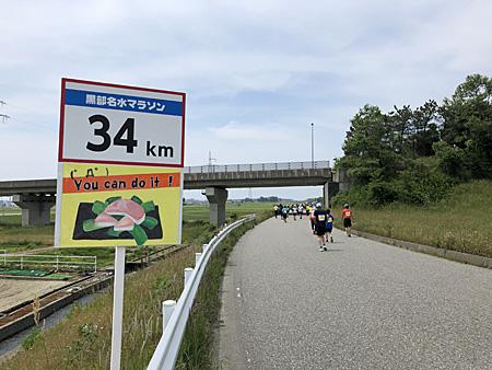34kmの看板