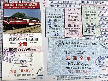 台湾の鉄道の切符