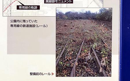 廃線跡の線路の写真