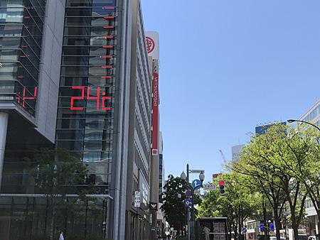 24度を示す温度計