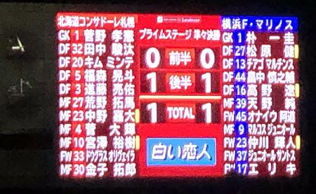 北海道コンサドーレ札幌 1-1 横浜F・マリノス
