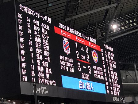 北海道コンサドーレ札幌 3-3 ベガルタ仙台