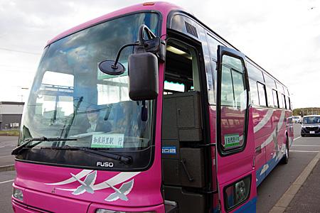 知床斜里駅行きのバス