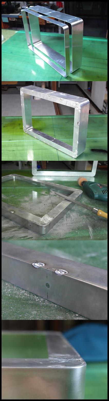 アルミ枠溶接・研磨