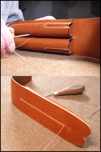 仕切り部分縫製