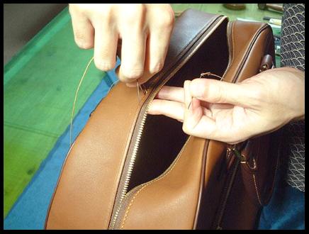 ファスナーの縫い付け方