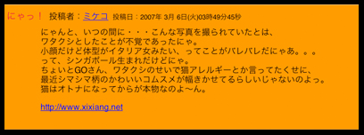 ミケコさんのコメント