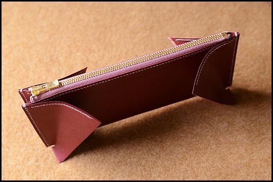 小銭入れ胴・マチ縫製