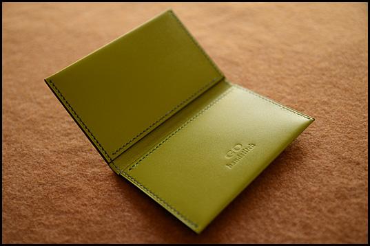 薄型2つ折りカードケース
