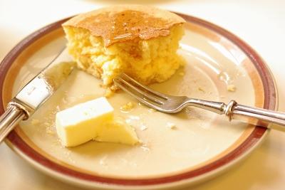 食べかけホットケーキ