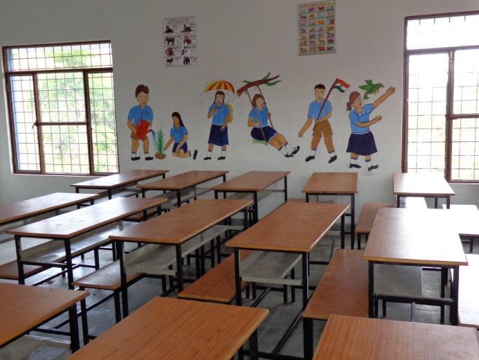 inside of the school