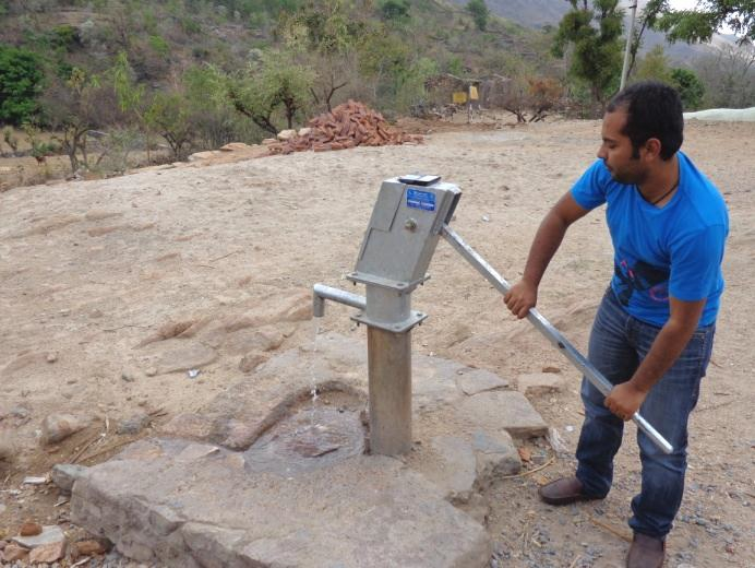 new hand pump in Barind