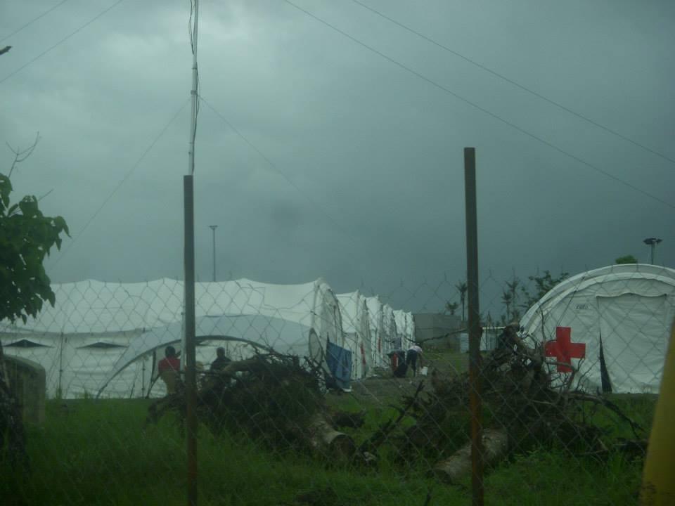 Tacloban tent