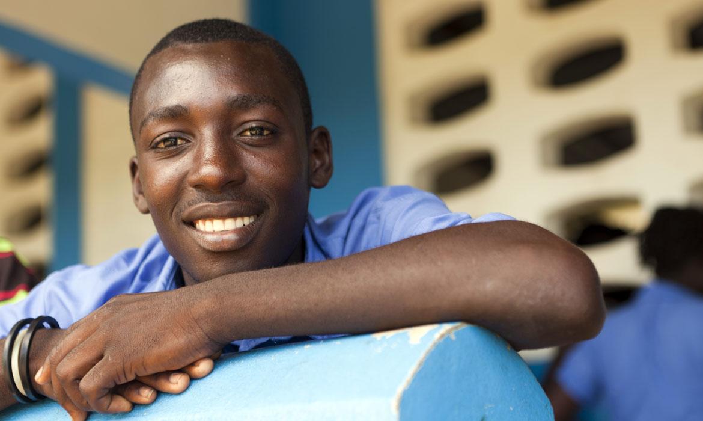 ハイチの青年