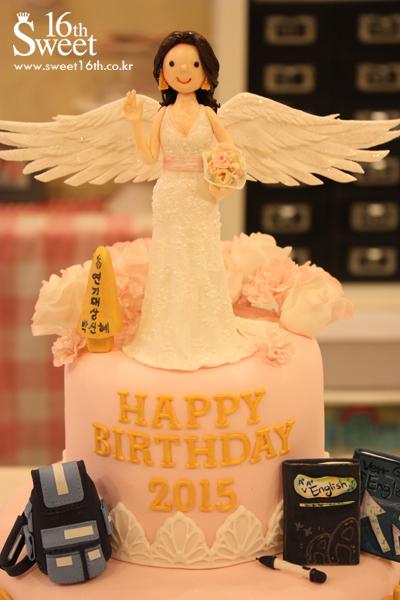 ケーキ上段