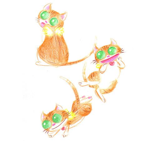 天使になった猫チョキ