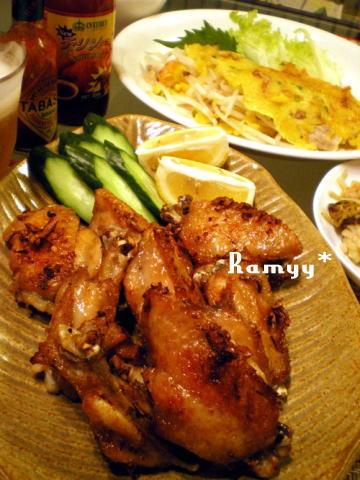 鶏手羽先肉のエスニックグリル