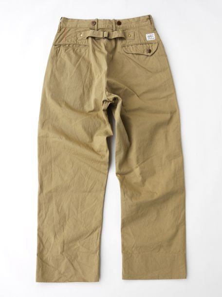 ANR-042<br /> Chino Cloth Wide Work Trousers(One Wash