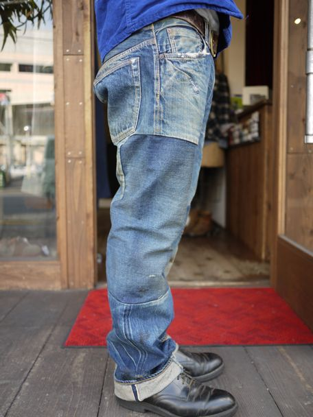 ANACHRONORM Reading Remaked 5Pocket Denime Pants [Hard Damaged & Remaked]