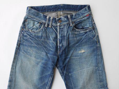 ANACHRONORM Reading Damaed 5 Pocket Denime Pants [Hard Washed]