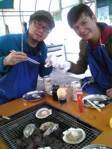 牡蛎小屋にて